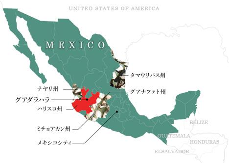 テキーラ地図